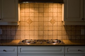 Backsplash installed by Clayton Flooring Inc.